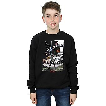 Star Wars Boys The Last Jedi Character Poster Sweatshirt