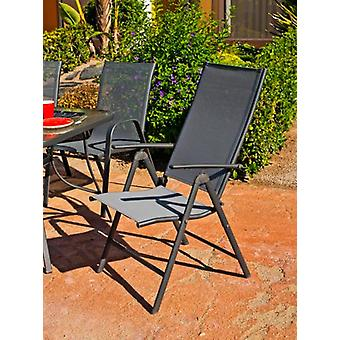 Hevea Lounger Steel / Textilen 5 Positions Sulam-5 Folding Anthracite