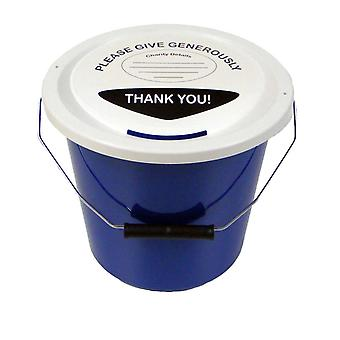 10 Charity Money Collection Buckets 5 Litres - Blue