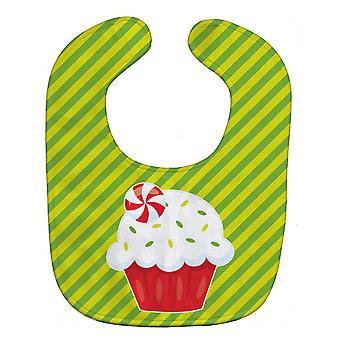 Carolines tesoros BB6819BIB Navidad Pepermint Cupcake Baby babero