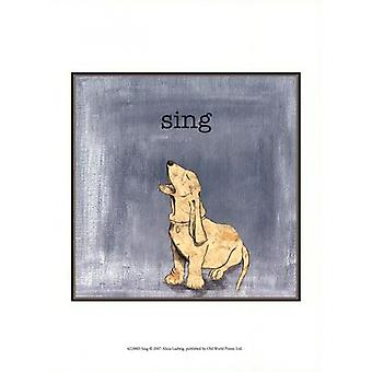 Sing Poster Print by Alicia Ludwig (10 x 13)