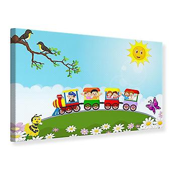 Canvas Print Train Ride