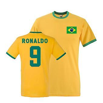 Ronaldo Brasilien Ringer Tee (gul)