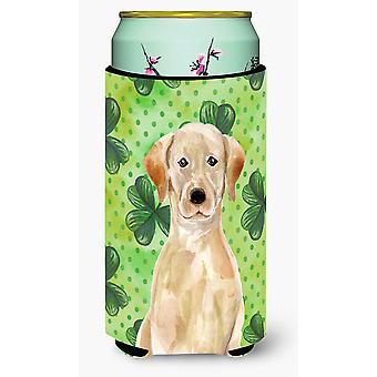 Gelber Labrador St. Patricks großer Junge Getränk Isolator Hugger