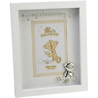 Button Corner My Christening Photo Frame