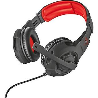 Gaming headset 3.5 mm jack Corded, Stereo Trust GXT 310 Over-the-ear Black, Red