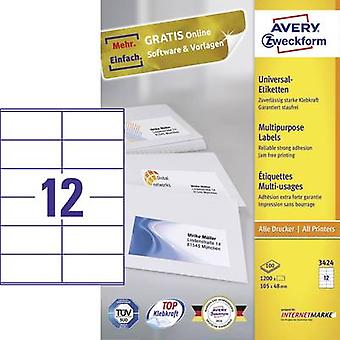 Avery-Zweckform 3424 Labels (A4) 105 x 48 mm Paper