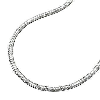 Round snake chain silver 925 necklace 45cm