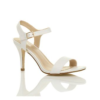 Ajvani womens mid low high heel strappy barely there party wedding prom sandals shoes
