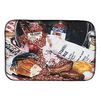 Carolines Treasures  8536DDM Red Beans and Rice Dish Drying Mat