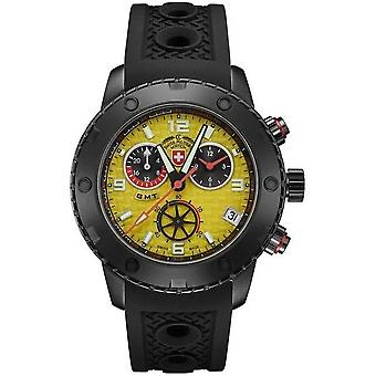Swiss military mens watch rally GMT Nero chronograph 2754