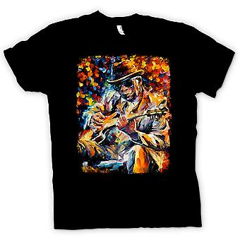 Herre T-shirt - John Lee Hooker - Blues - oliemaleri