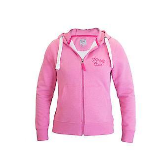 Moody Cow Zip Thru Hoody - Baby Pink