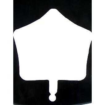 Foil Balloon Star Solid Metallic White