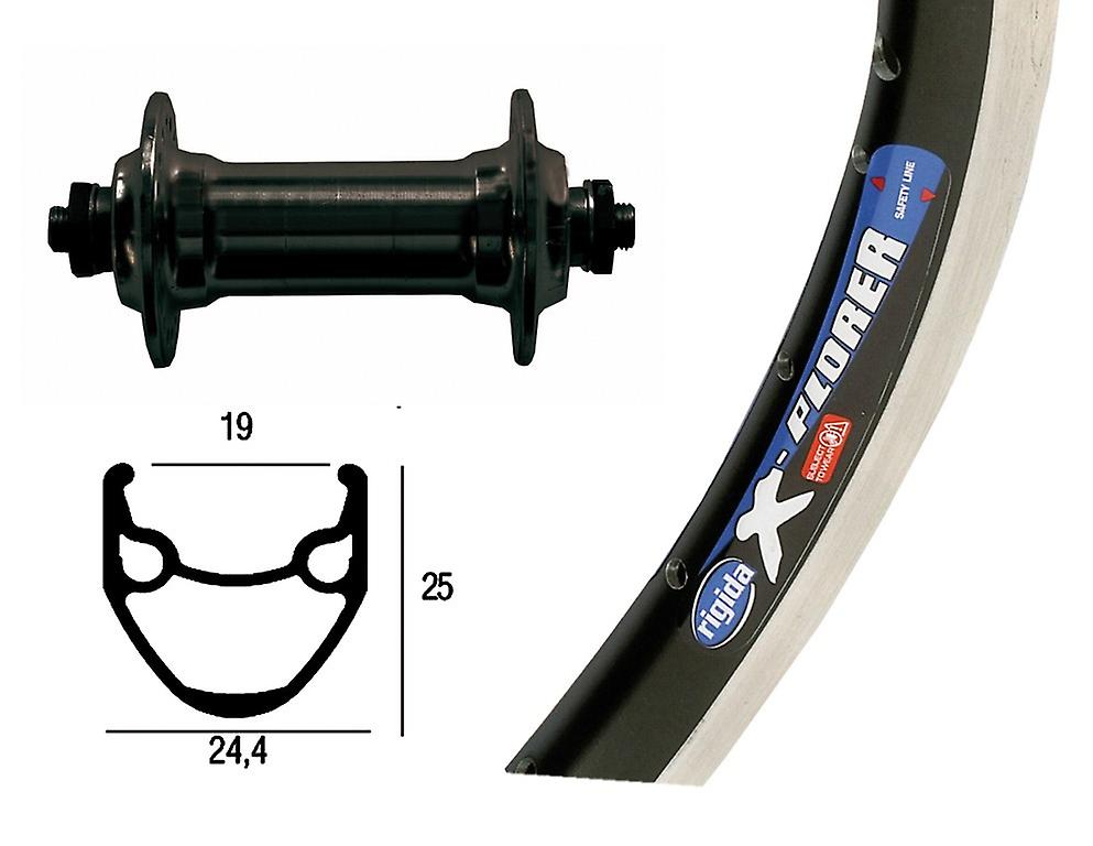 Bike-Parts 26″ Vorderrad Rigida X-Plorer + Standard-Nabe Alu (QR)