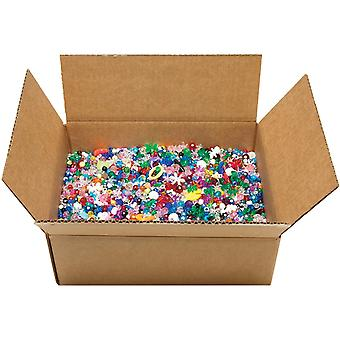 Mixed Plastic Beads 5lb-Assorted Shapes & Sizes