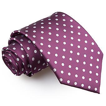 Cravate classique violet à pois