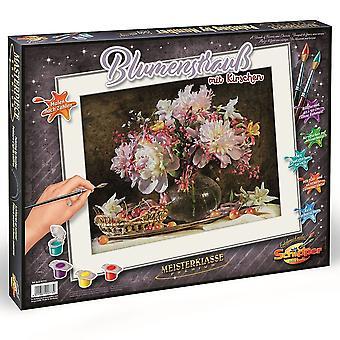 Schipper Premium maling af numre en masse blomster og kirsebær