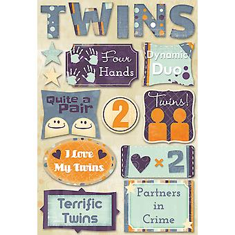 Cardstock Stickers-Terrific Twins