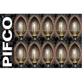 10 x PIFCO LED Vintage Retro Candle Globe GLS B22 B15 SES ES Light Bulbs