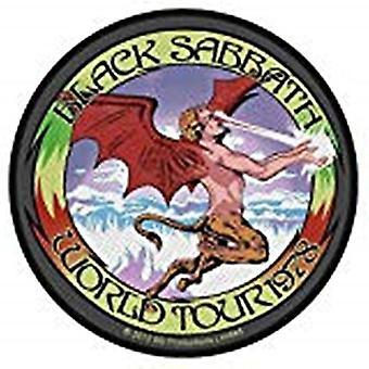 Black Sabbath-Welttournee 1978 Runde Nähen-auf Stoff Patch