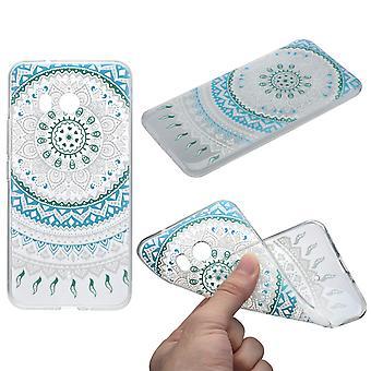 Couverture de henné pour silicone de Housse Etui de protection HTC U11 bleu soleil