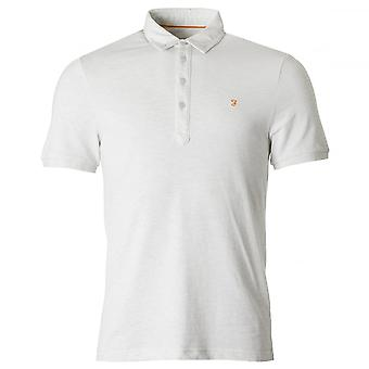 Farah Merriweather Slim Fit SS Polo Shirt Chalk Marl
