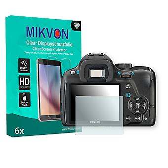 Pentax K-500 Screen Protector - Mikvon Clear (Retail Package with accessories)