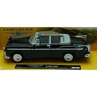 1:43 skala støpt svart 1955 Chrysler C-300 cabriolet