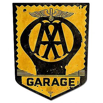 Aa Garage Metal Sign