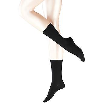 De sokken van Falke Softmerino - zwart