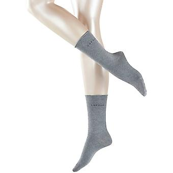 Esprit Basic Pure 2 Pack Socks - Light Grey