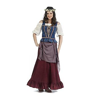 Mitterlalterlich hostess Lady costume peasant woman dispensing wife maid ladies dress
