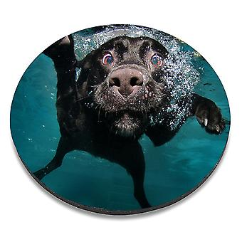 i-Tronixs - Underwater Dog Printed Design Non-Slip Round Mouse Mat for Office / Home / Gaming - 7
