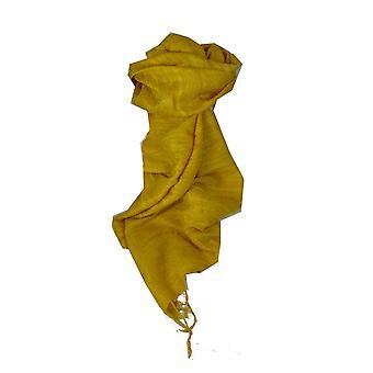 Чистый шелк-сырец длинный шарф Ханой ткать золота пашмины & шелка