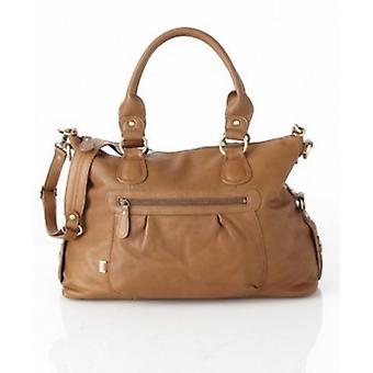 OiOi Soft Brown Leather Changing Bag