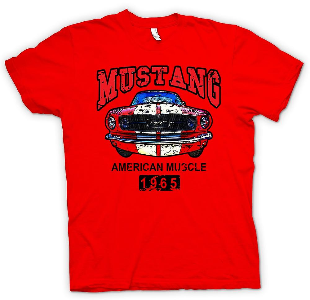 Mens t-shirt-Mustang 65 muscolo - auto - Classic U.S. auto