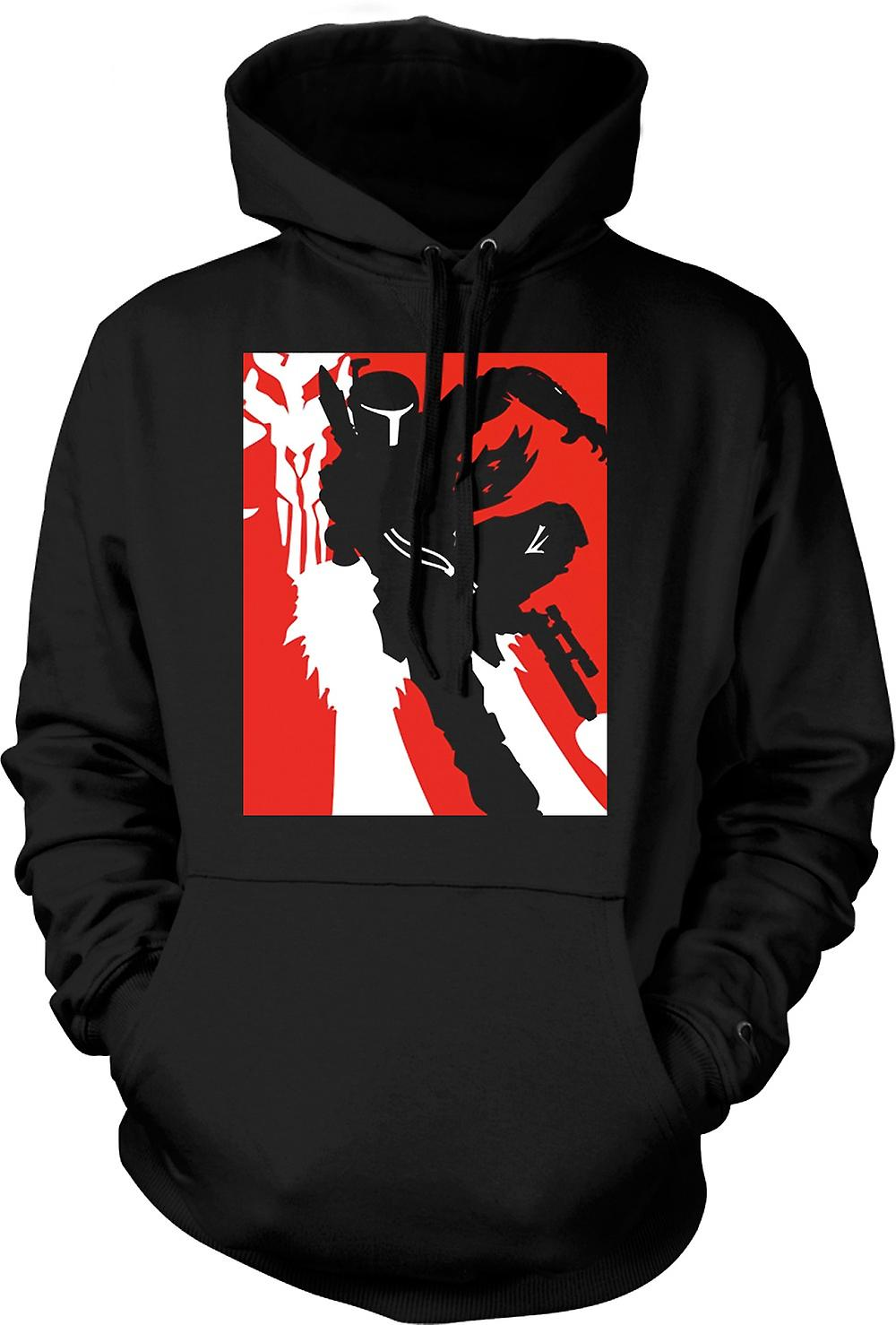 Mens Hoodie - Star Wars - Bobba Fett - Pop Art