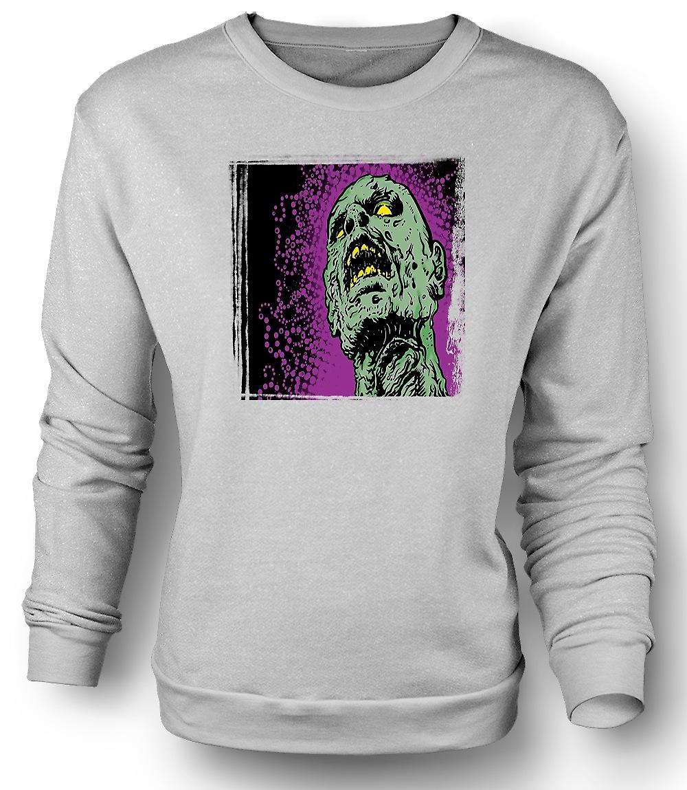 Mens Sweatshirt Pop Art - Zombie leder - kule