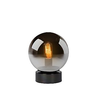 Lucide Jorit Modern Globe Glass Smoke Grey Table Lamp