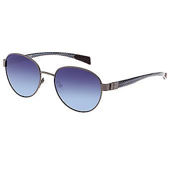 Breed Volta Titanium and Carbon Fiber Polarized Sunglasses - Gunmetal/Blue