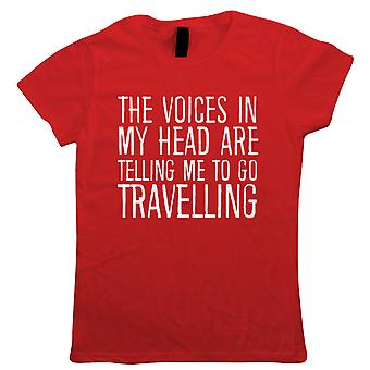 Voices In My Head Go Travelling, Womens T Shirt