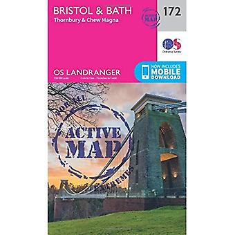Bristol & Bath, Thornbury & Chew Magna (OS Landranger Map)