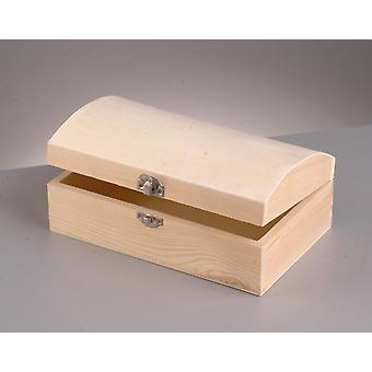 Wood Treasure Chest with Clasp to Decorate 19x11x7.5cm   Pirate Treasure Chests