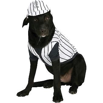 野球選手の犬のコスチューム
