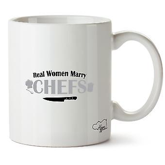 Hippowarehouse Real as mulheres casam Chefs impresso caneca copo cerâmico 10oz