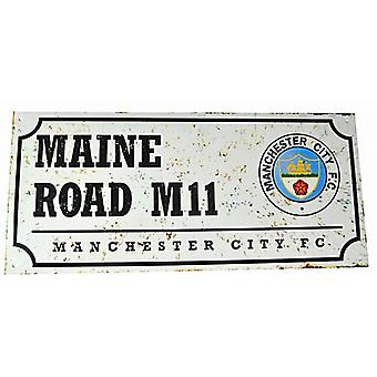 Manchester City FC Maine Road retro look metal street sign (bb)