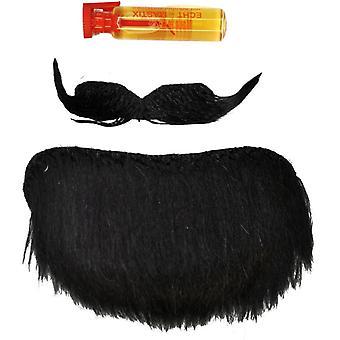 Schnurrbart Spitzbart schwarz