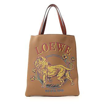 Loewe Beige Leather Tote