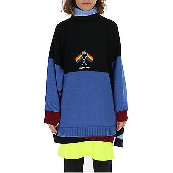 Balenciaga Multicolor Wool Sweater